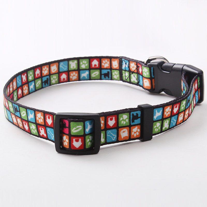 Collar de perro personalizado de poliéster: Collar de perro directo de fábrica Wholesale-QQpets