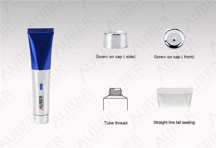 Auber D19mm High Glossy Tubes for Cosmetics with Metalized Screw On Cap