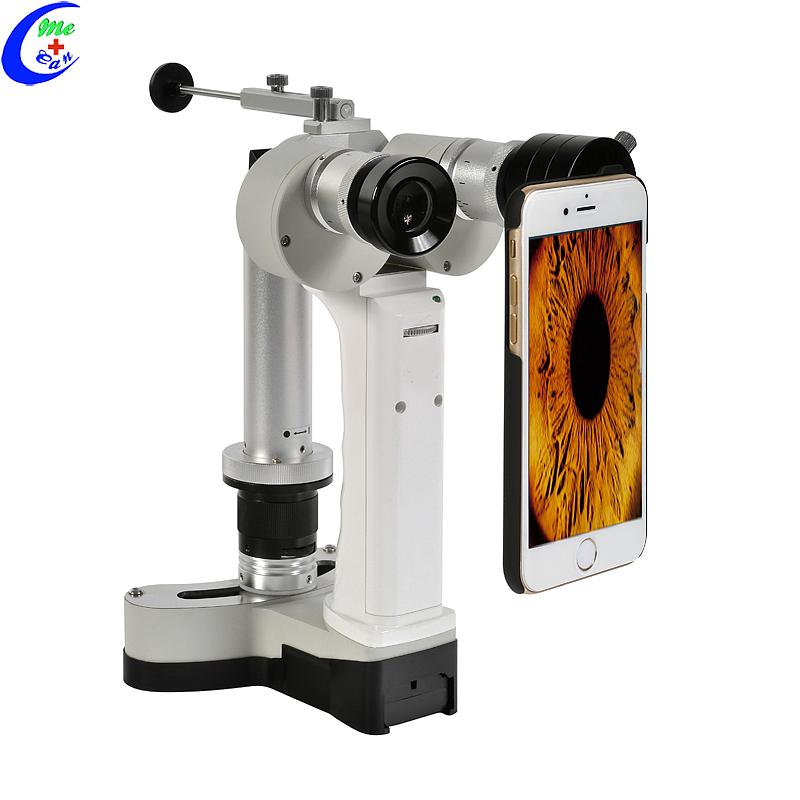 مجهر المصباح الشقي الرقمي المحمول للعين