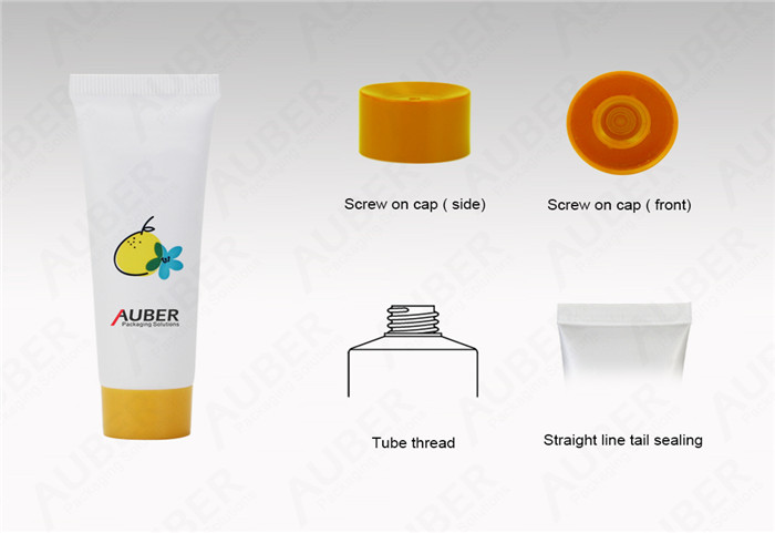 Auber D25mm White Hand Cream Squeeze Tubes With Red Screw on Cap