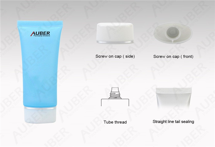 D30mm Semi-Clear Oval Plastic Cosmetic Tubes Suppliers with Screw Cap