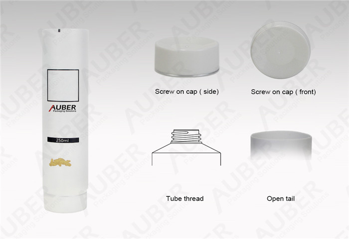 D50mm Semi-clear Hair Conditioner Packaging with Screw on Cap