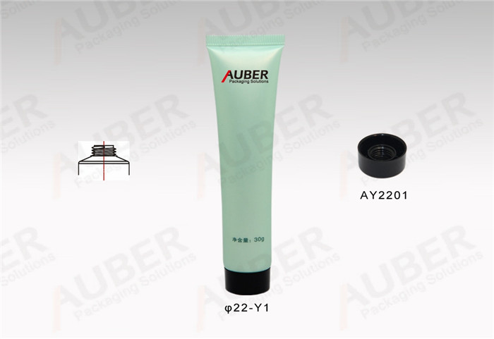 D22mm Plastic Tube for Cosmetics with Black Screw On Cap