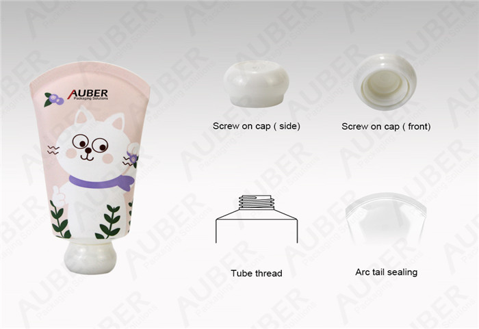 D35mm Pink Hand Cream Tube Supplier With Screw On Cap