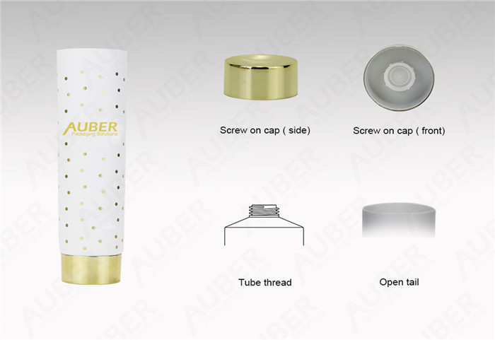 Auber D45mm Tube For Hair Beauty Makeup Packaging With Metalized Screw on Cap
