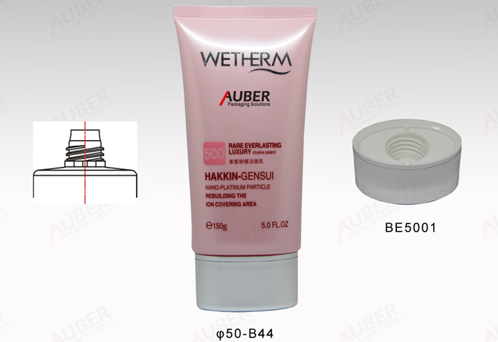 Auber 120ml Oval Plastic tubes and cosmetic packaging