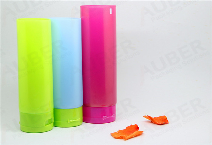 Colorful Plastic Tubes with Flip Top Caps for Personal Care Products
