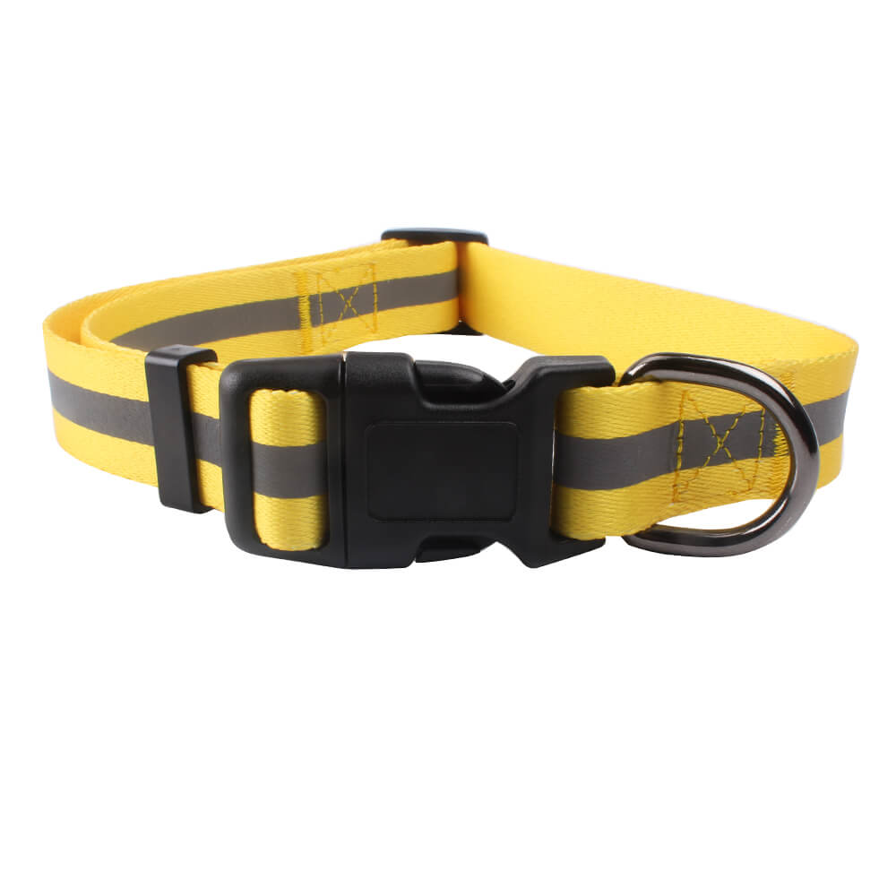 Collar de perro reflectante: 2020 oferta caliente de poliéster reflectante collar de perro ligero suministro-QQPETS