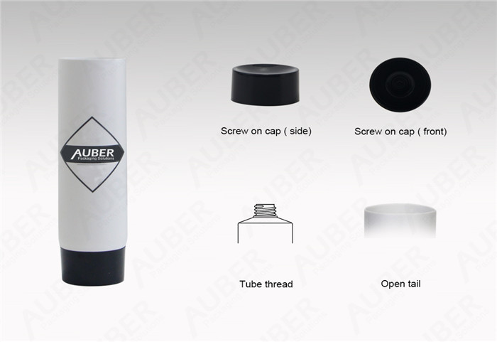 Auber D25mm White Tubes For CBD Products With Screw on Cap