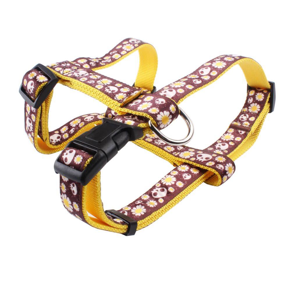 H type dog harness wholesale: Nylon ribbon perfect sewing dog harness