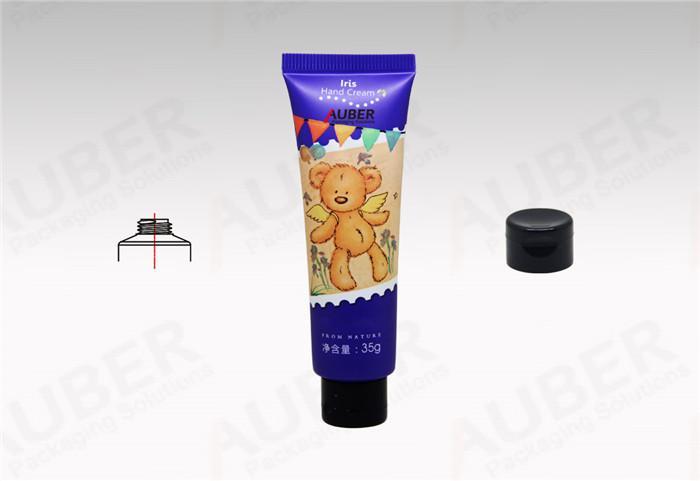 Lovely Hand Cream Tubes Vendors Baby Skin Oil Plastic Tube in Dia_25mm with Black Flip Top Cap
