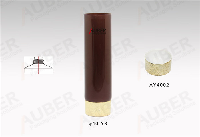 D40mm Tubes for Hand Cream with Frost Glod Screw On Cap