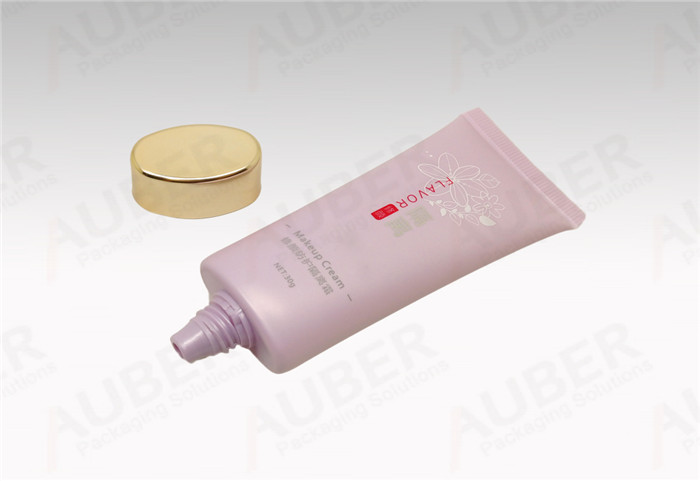 Oval Cosmetic Tubes in Dia_30mm with Gold Screw On Cap for Makeup Base