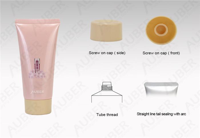 D40mm Sakura Hand Cream Tube Packaging With Screw On Cap