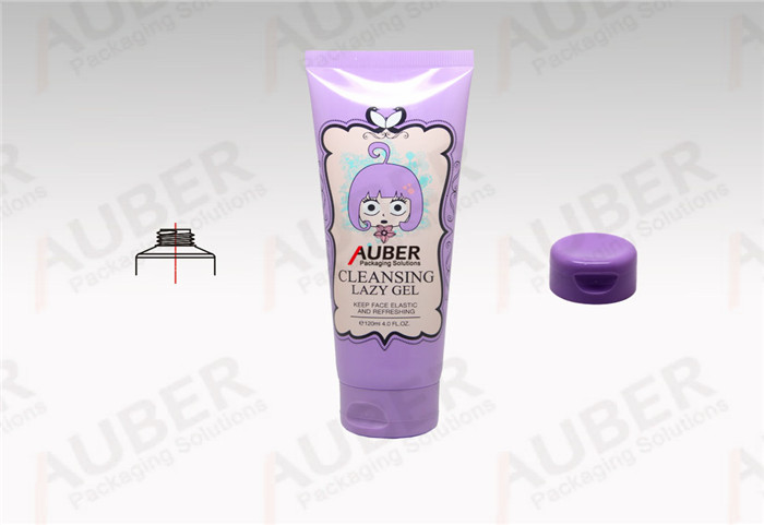 D40mm printed skin care tubes for Cleanser Gel with Flip top cap