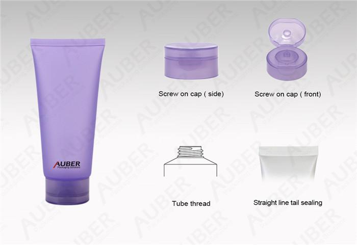 Purple Semi Transparent Cosmetics Tube