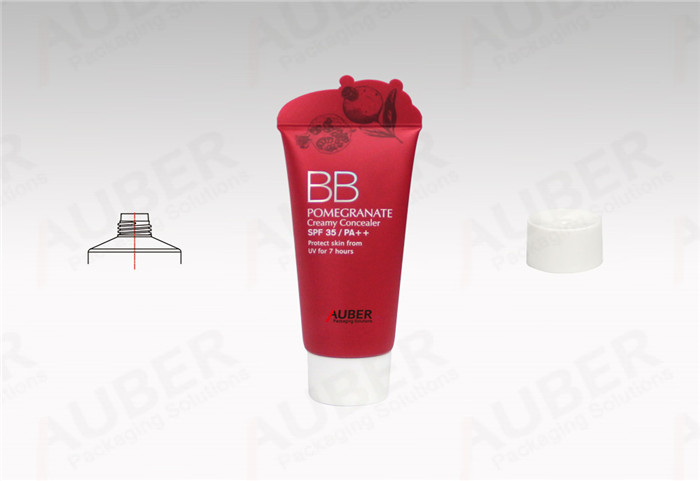 Round BB Cream Tubes Manufacturer in Special Shape with White Screw On Cap