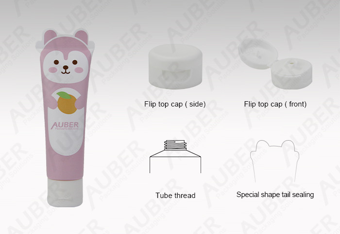 Pink Bear Lotion Squeeze Tube