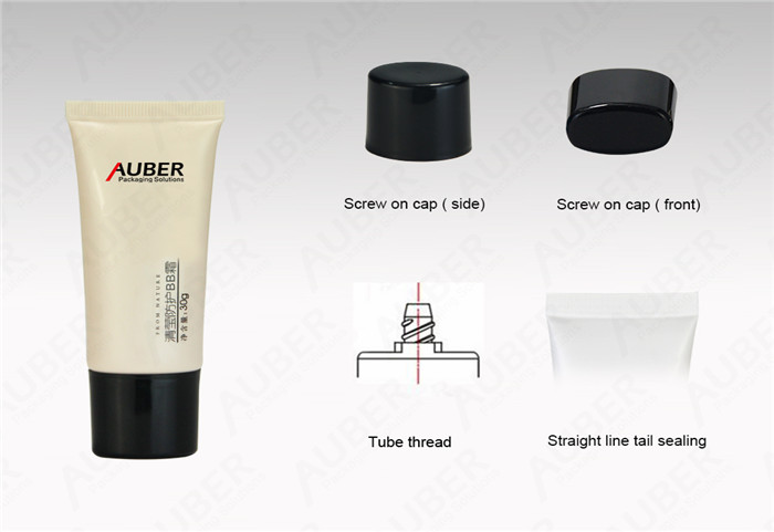 Colored Oval BB Cream in Dia.30mm with Black Screw On Cap