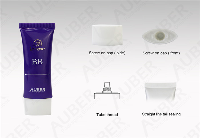 Oval Plastic Cosmetic Packaging