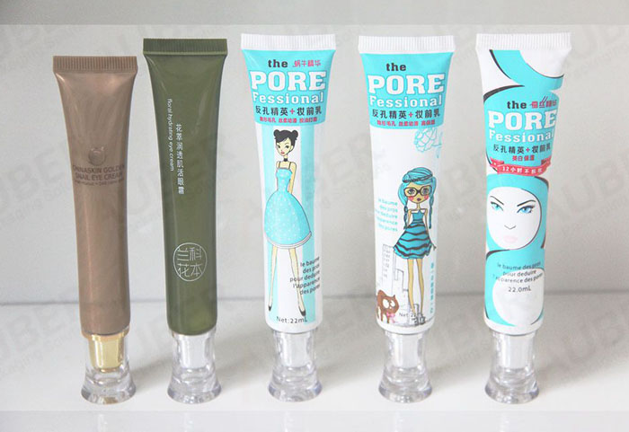 Plastic Eye Cream Tubes for Woman Makeup Packaging