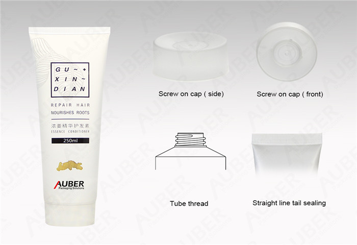 D50mm  Clear Conditioner Tube Packaging with Screw On Cap