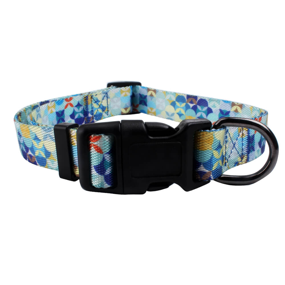 Unique dog collars: Factory direct polyester dog collars glossy for sale-QQPETS