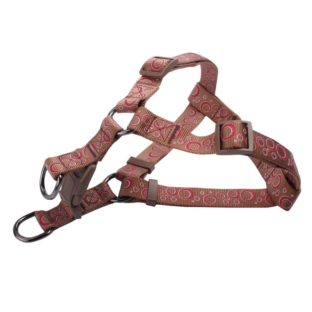 Custom Logo Dog Harness: Wholesale Nylon Silk Screen Printed Dog Harness