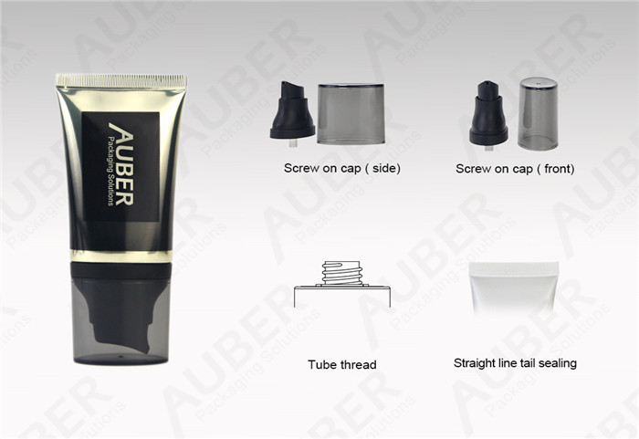 Oval High Glossy Airless Tubes Packaging