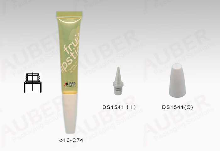 D16mm Yellow Transparent Lip Gloss Tubes with Screw On Caps