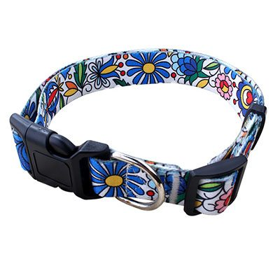 Polyester Pet Collar: Factory Best Quality Sublimation Print Pet Collar-QQpets