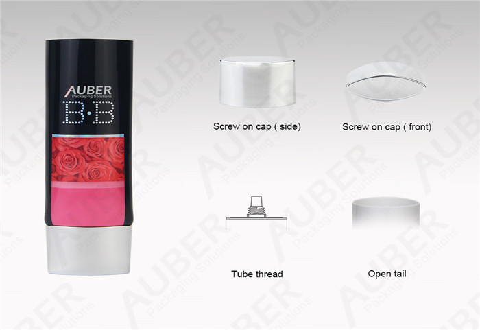 Oval Customized Cosmetic Packaging BB Cream