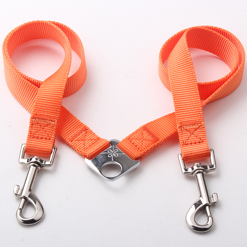Supplier Couple Dog Leash: Nylon Couple Dog Leash With Solid Color-QQpets