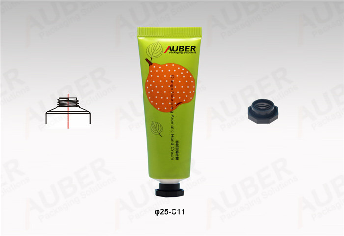 D25mm Metal Cosmetic Tube with Octagonal Cap and Fruit Printing