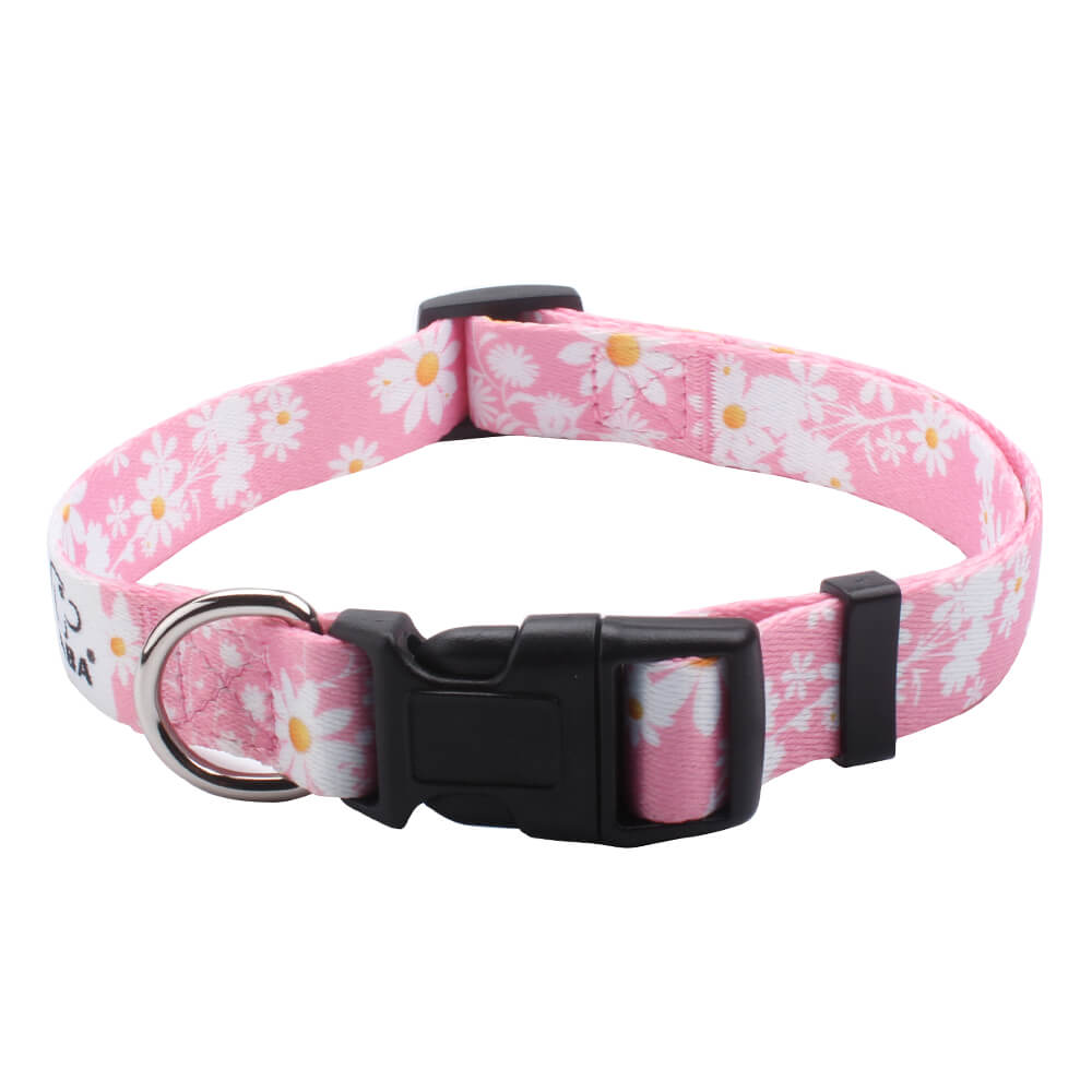 Comfortable Dog Collars Wholesale: Custom Dog Collars With Flowers-qqpets