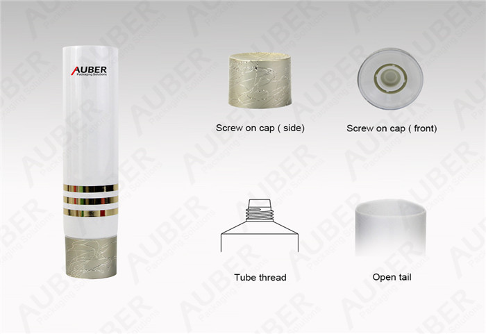 Auber D40mm High End Packaging Tubes for After Shave Cream with Metalized Screw Cap