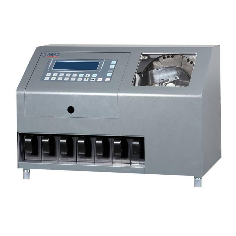 Compteur de pièces de monnaie robuste et trieuse 6 + 1 poches Rejeter Pocket CS-600B Suzhou Ribao Technology