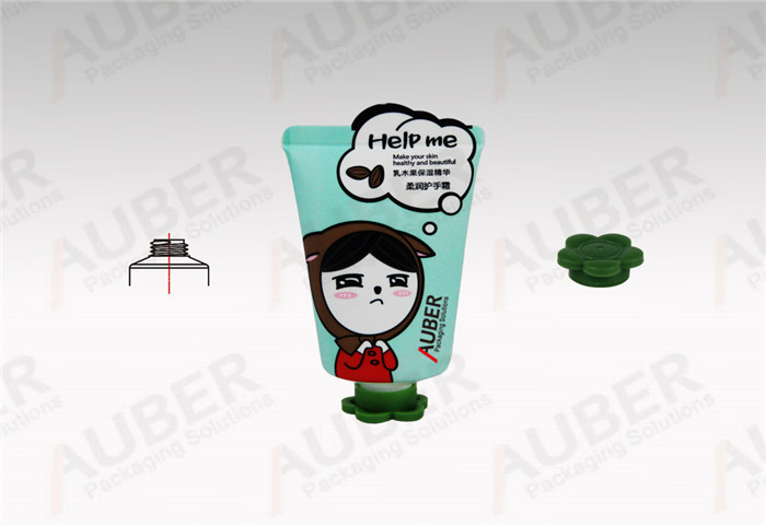 Auber Tube Packaging Supplier Hand Cream Tube in Dia_35mm with Unique Tail Seal and Flower Cap