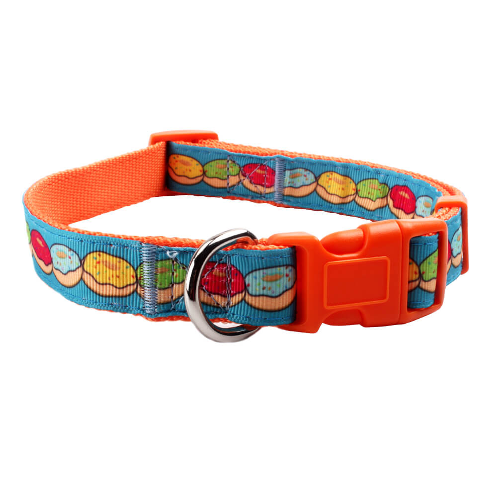Cheap dog collars: 2020 Popular nylon jacquard dog collars with logo for sale