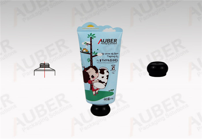 Auber Aluminum Laminated Cleanser Tubes in Dia_35mm with Spherical Cap and Special Tail Seal