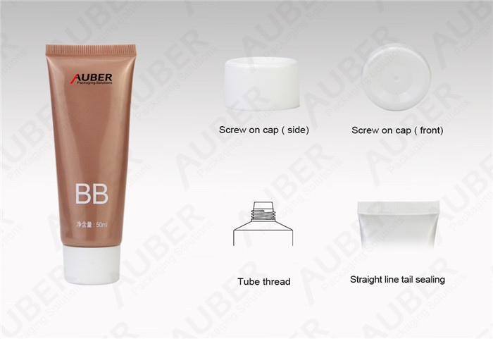 D30mm Smooth BB Cream Packaging Tubes with Screw On Cap