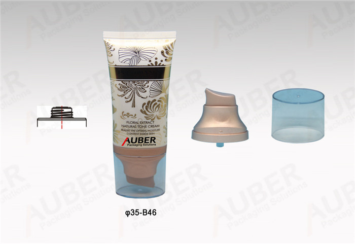 D35mm Oval Airless Pump Tube with Clear Cap