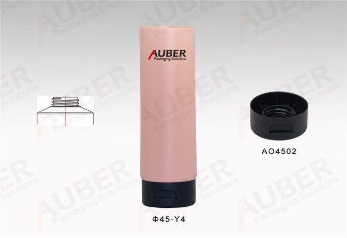 D45mm Pink Skin Care Plastic Tube with Flip Top Cap