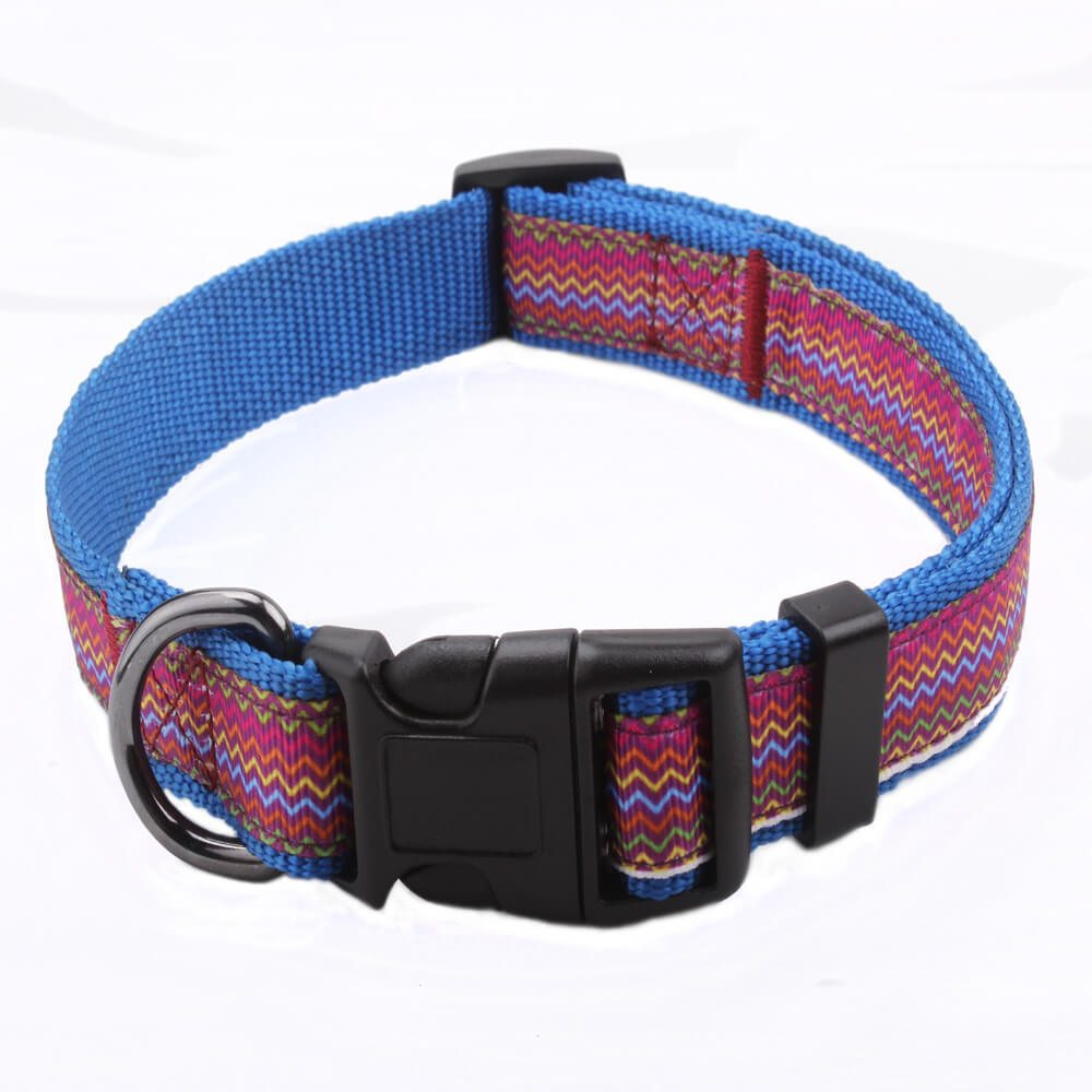Fashion Dog Collar: Manufacturer Dog Collar Custom Logo Nylon-QQpets