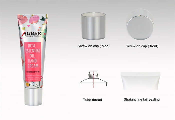D30mm Aluminum Laminated Tubes for Hand Cream with High Screw On Cap