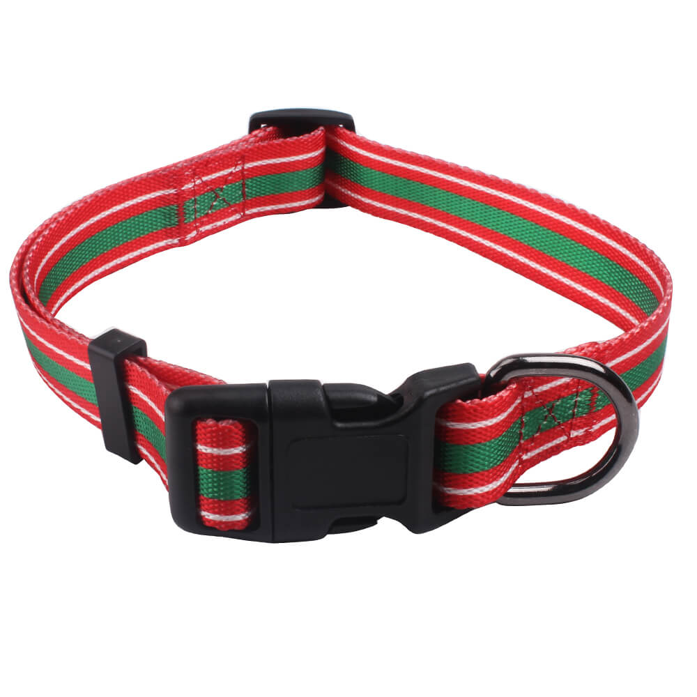 Holiday dog collars: Promotion best dog collars glossy polyester supply-QQPETS