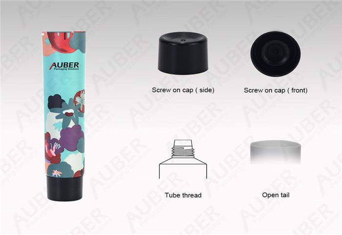 D30mm Aluminium Tubes For Cosmetics With Black Screw On Cap