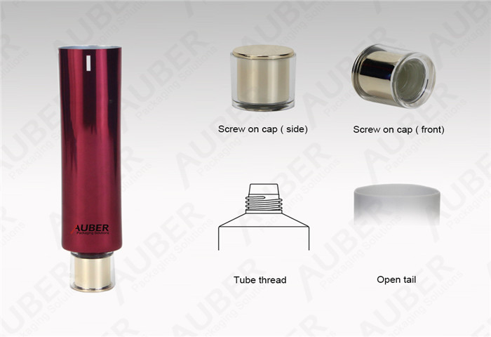 D30mm Empty High Glossy Tube with Metalized Screw on Cap