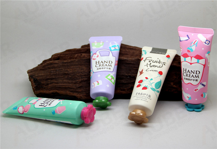 D35mm Hand Cream Tubes with Colorful Flower Caps