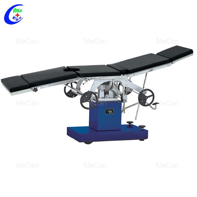 طاولة التشغيل الهيدروليكية اليدوية متعددة الوظائف ، سرير مسرح العمليات الجراحية